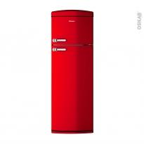 Réfrigérateur combiné 304L - Pose libre 175cm - Rouge - CANDY - CVRDS 6174RH