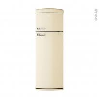 Réfrigérateur combiné 304L - Pose libre 175cm - Crème - CANDY - CVRDS 6174WH