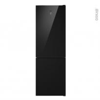 Réfrigérateur combiné 317L - Pose libre 185cm - Noir - CANDY - CMGN6182B