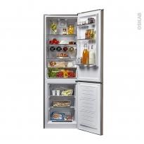 Réfrigérateur combiné 305L - Pose libre 187cm - Inox - CANDY - CSET6184X