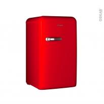 Petit réfrigérateur 124L - Pose libre 96cm - Rouge - CANDY - CKRTOS 544 RH