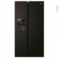 Réfrigérateur américain 515L - Pose libre 177.5cm - Total Black - HAIER - HSR3918FIPB