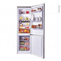 Réfrigérateur combiné 305L - Pose libre 187cm - Inox - CANDY - CHCS6184XF