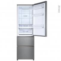 Réfrigérateur combiné 348L - Pose libre 190.5cm - HAIER - HTR5619ENMG