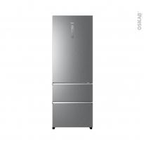Réfrigérateur combiné 483L - Pose libre 200cm - Finition Platinium - HAIER - A3FE744CPJ