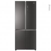 Réfrigérateur combiné 537L - Pose libre 190cm - Finition Verre Inox - HAIER - HTF-508DGS7
