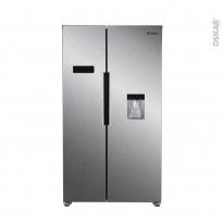 Réfrigérateur américain 518L - Pose libre 178 cm - Inox - CANDY - CHSBSO6174XWD