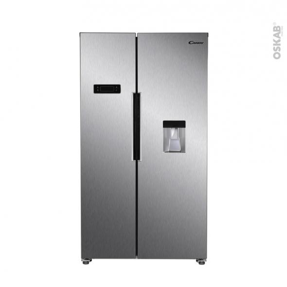 Réfrigérateur américain 529L - Pose libre 178 cm - Inox - CANDY - CHSBSO6174XWD