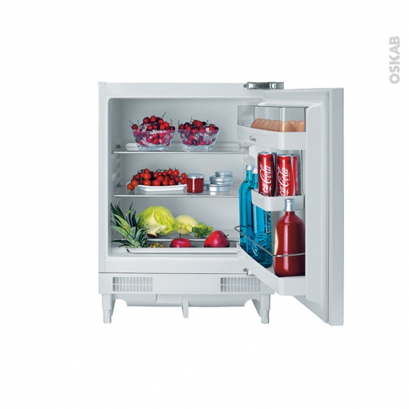 Petit réfrigérateur 133L - Sous plan 82cm - Blanc - CANDY - CRU160E
