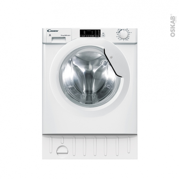 Lave linge Séchant 60CM - Intégrable 8+5kg - CANDY - CBD 485D1E/1-S