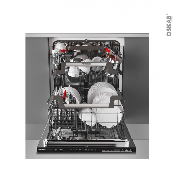 Lave vaisselle 60cm - Full Intégrable 16 couverts - ROSIERES - RDIN 2D62CPB-47/E