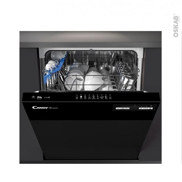 Lave vaisselle 60CM - Intégrable 13 couverts - Noir - CANDY - CDSN2D350PB