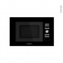 Micro-ondes 20L - Intégrable 38cm - Verre Noir - ROSIERES - RMG20/1PN