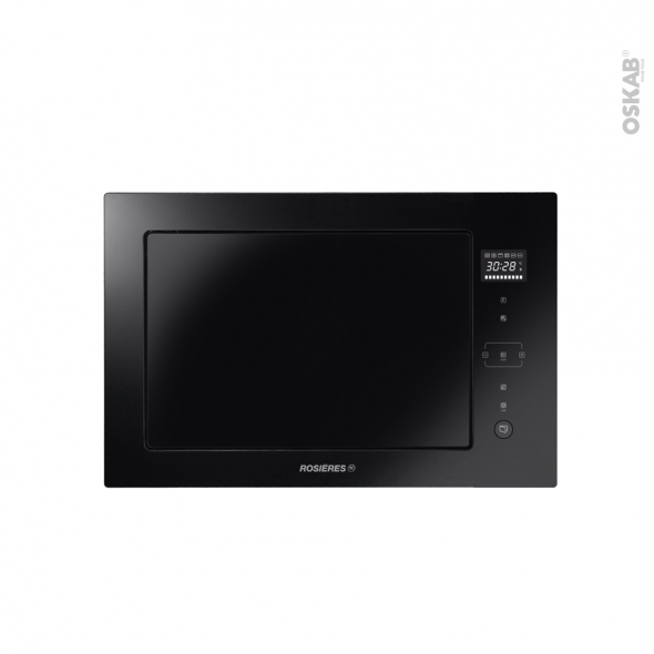 Micro-ondes grill - Intégrable 38cm -  28L - Noir - ROSIERES - RMGS28PNPRO