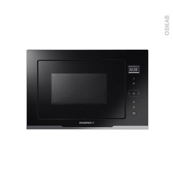 Micro-ondes grill - Intégrable 38cm 28L - Noir - ROSIERES - RMGS28PN