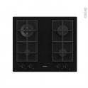 Plaque de cuisson 4 feux - Gaz 60 cm - Verre Noir -  ROSIERES - RDK6GR4MBB