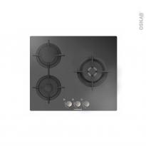 Plaque de cuisson 3 feux - Gaz - Verre Noir - ROSIERES - RGV63WFMPN