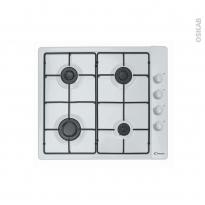 Plaque de cuisson 4 feux - Gaz 60 cm - Blanc - CANDY - PLC60SPB