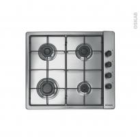 Plaque de cuisson 4 feux - Gaz 60 cm - Inox - CANDY - PLC60SPX