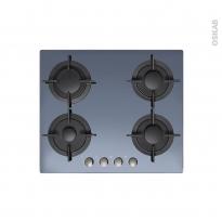 Plaque de cuisson 4 feux - Gaz 60 cm - Verre Miroir - CANDY - CVG64SGX
