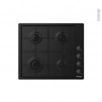 Plaque Gaz - 4 foyers - Noir - CANDY - CHW6LBB