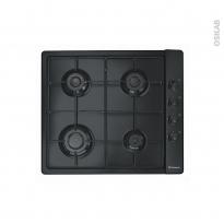 Plaque de cuisson 4 feux - Gaz 60 cm - Noir - CANDY - PLC60SPN