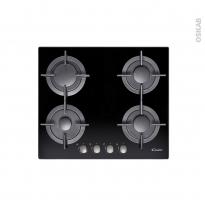 Plaque Gaz - 4 foyers - Verre Noir - CANDY- CVG64SGNX