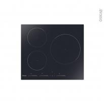 Plaque Induction - 3 foyers - Verre Noir - CANDY - CIS633MCTT