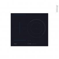 Plaque Induction - 3 foyers - Verre Noir - CANDY - CTP634SC