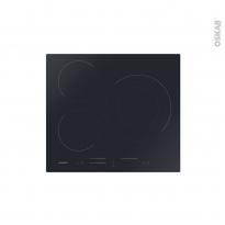 Plaque Induction - 3 foyers - Verre Noir - ROSIERES - RSI633MC/G3