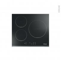 Plaque de cuisson 3 feux - Induction 60 cm - Verre Noir - CANDY - CI136