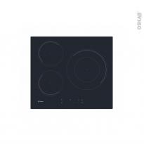 Plaque de cuisson 3 feux - Induction 60cm - Noir - CANDY - CID633C
