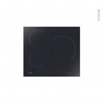 Plaque Induction - 3 foyers - Verre Noir - CANDY - CID633DC