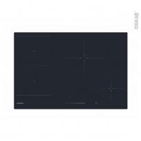 Plaque de cuisson 4 feux - Induction 77 cm - Verre Noir -  ROSIERES - RIES844SC