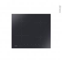 Plaque de cuisson 4 feux - Induction 60 cm - Verre Noir - ROSIERES - RI642C