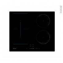 Plaque Induction - 4 foyers - Verre Noir - CANDY - CTP643SC