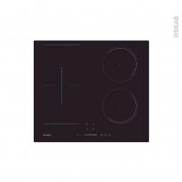 Plaque de cuisson 4 feux - Induction 60 cm - Verre Noir - CANDY - CCTP644S