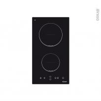 Plaque de cuisson 2 feux - Induction 30cm - Verre Noir - CANDY - CDI30