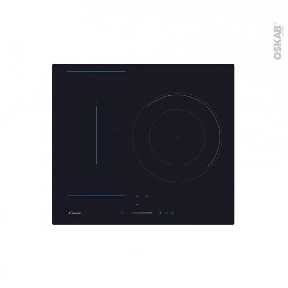Plaque de cuisson 3 feux - Induction 59cm - Verre Noir - CANDY - CTP634SC
