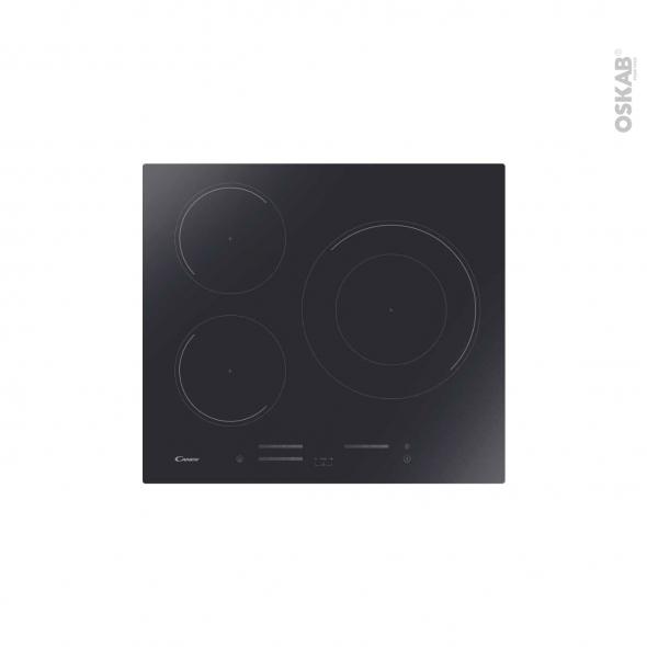Plaque de cuisson 3 feux - Induction 59cm - Verre Noir - CANDY - CI633MC