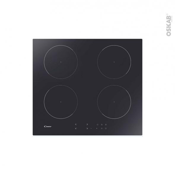 Plaque de cuisson 4 feux - Induction 60 cm - Verre Noir - CANDY - CI642CTT