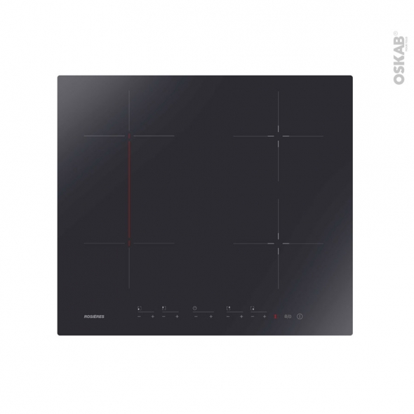 Plaque Induction - 4 foyers - Verre Noir - ROSIERES - RTP644C