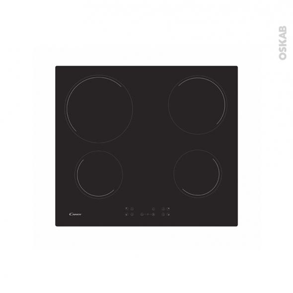 Plaque Vitro - 4 foyers - Verre Noir - CANDY - CH64CCTT