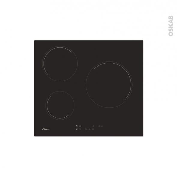 magasin en ligne 0c557 3c720 Plaque de cuisson 3 feux Vitrocéramique 60 cm Verre Noir CANDY CHK63CT -  Oskab