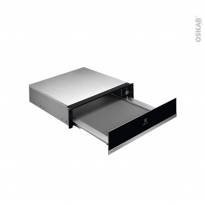 Tiroir chauffant - ELECTROLUX - Verre noir et inox - KBD4X