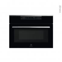 Four micro-ondes combiné - Intégrable 45cm 43L - Verre Noir et Inox - ELECTROLUX - KVLBE00X