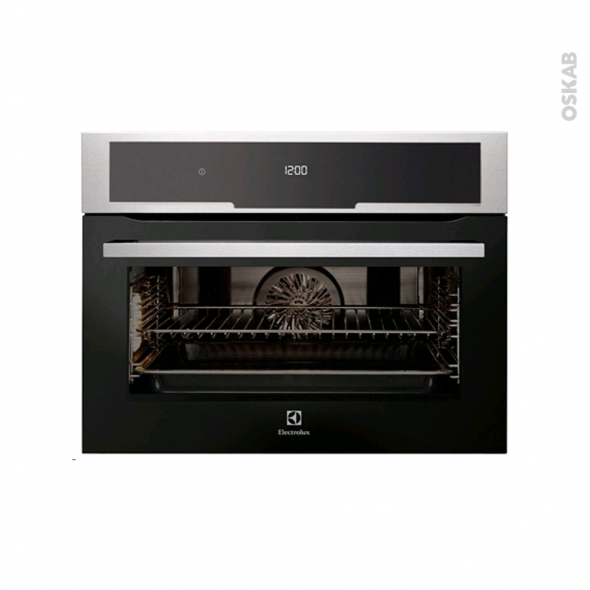 Four multifonction - Pyrolyse 43L  - Niche 45cm - Inox Anti Trace - ELECTROLUX - EVK5840AAX