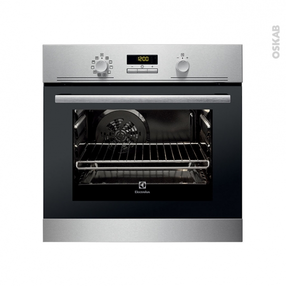 Four encastrable pyrolyse - Multifonction 53L - Inox Anti Trace - ELECTROLUX - EOQ3400DOX