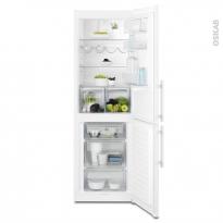 Réfrigérateur combiné 329L - Pose libre 185 cm - Blanc - ELECTROLUX - EN3605JOW