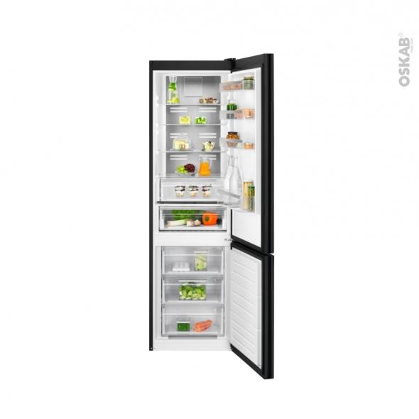 Réfrigérateur combiné 360L - Pose libre 201 cm - Noir - ELECTROLUX - LNT7ME34K1